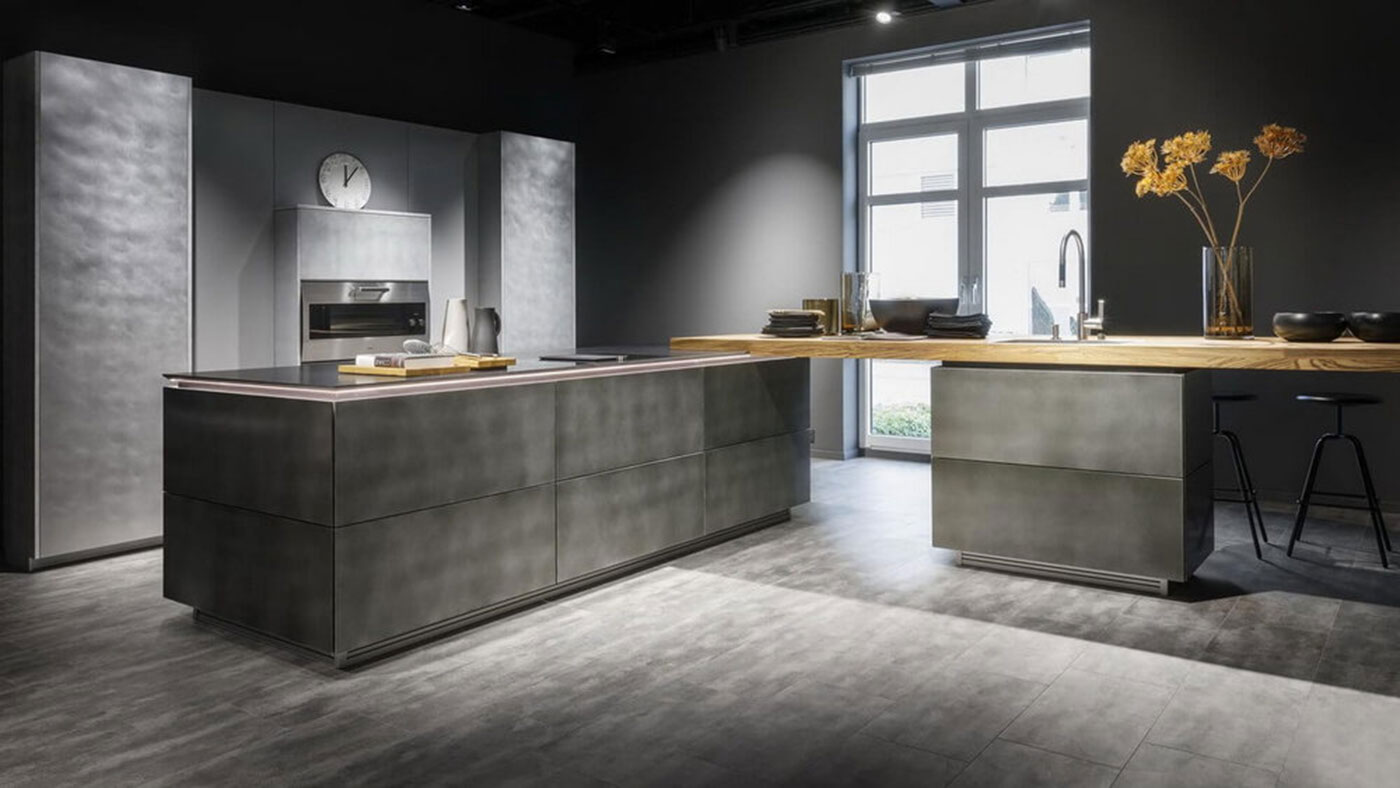 Beautiful New German Steel Finish Kitchen from Waredorf at Sheths